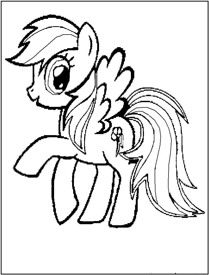 My little pony friendship magic coloring pages print - Baby My Little Pony Coloring Pages