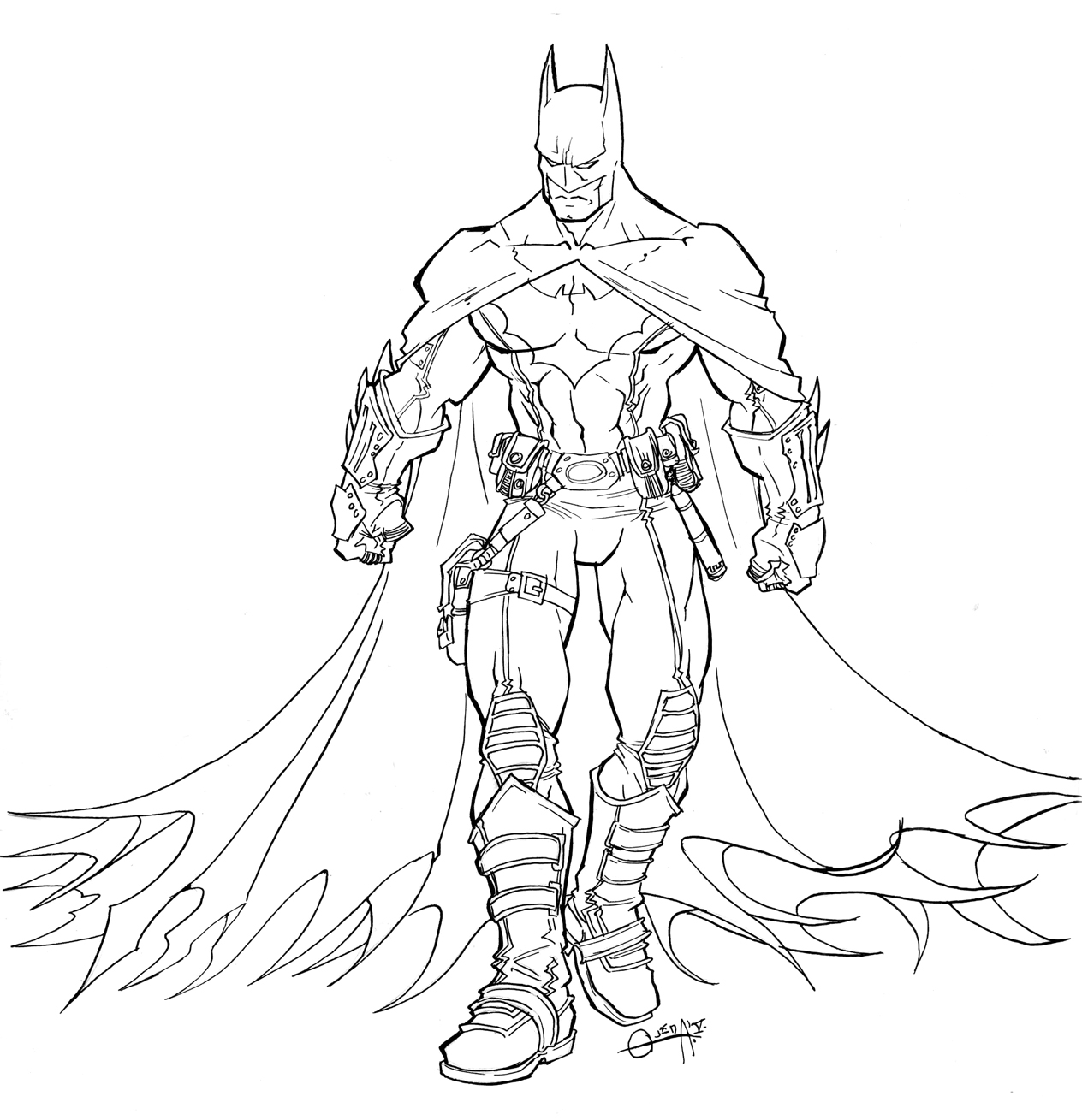 Coloring pages printable batman