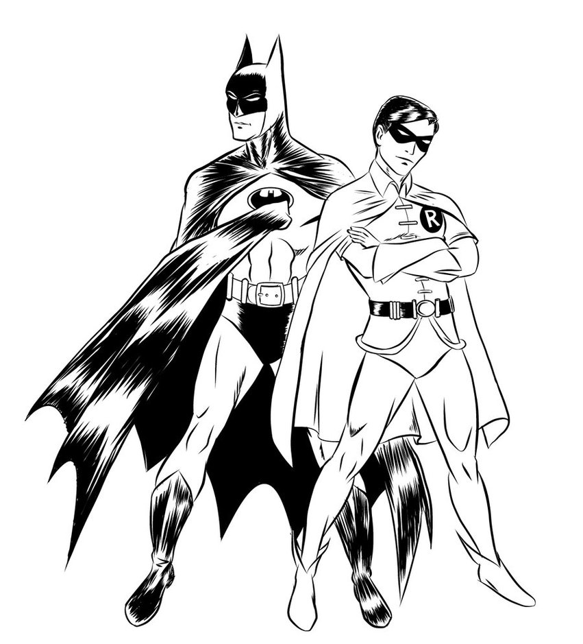 Printable coloring pages robin - Batman And Robin Coloring Pages For Kids