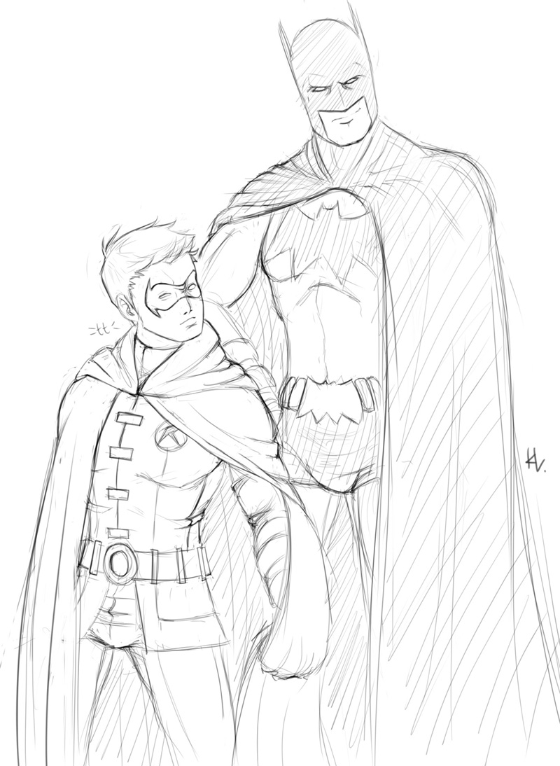 Printable coloring pages robin - Batman And Robin Coloring Pages