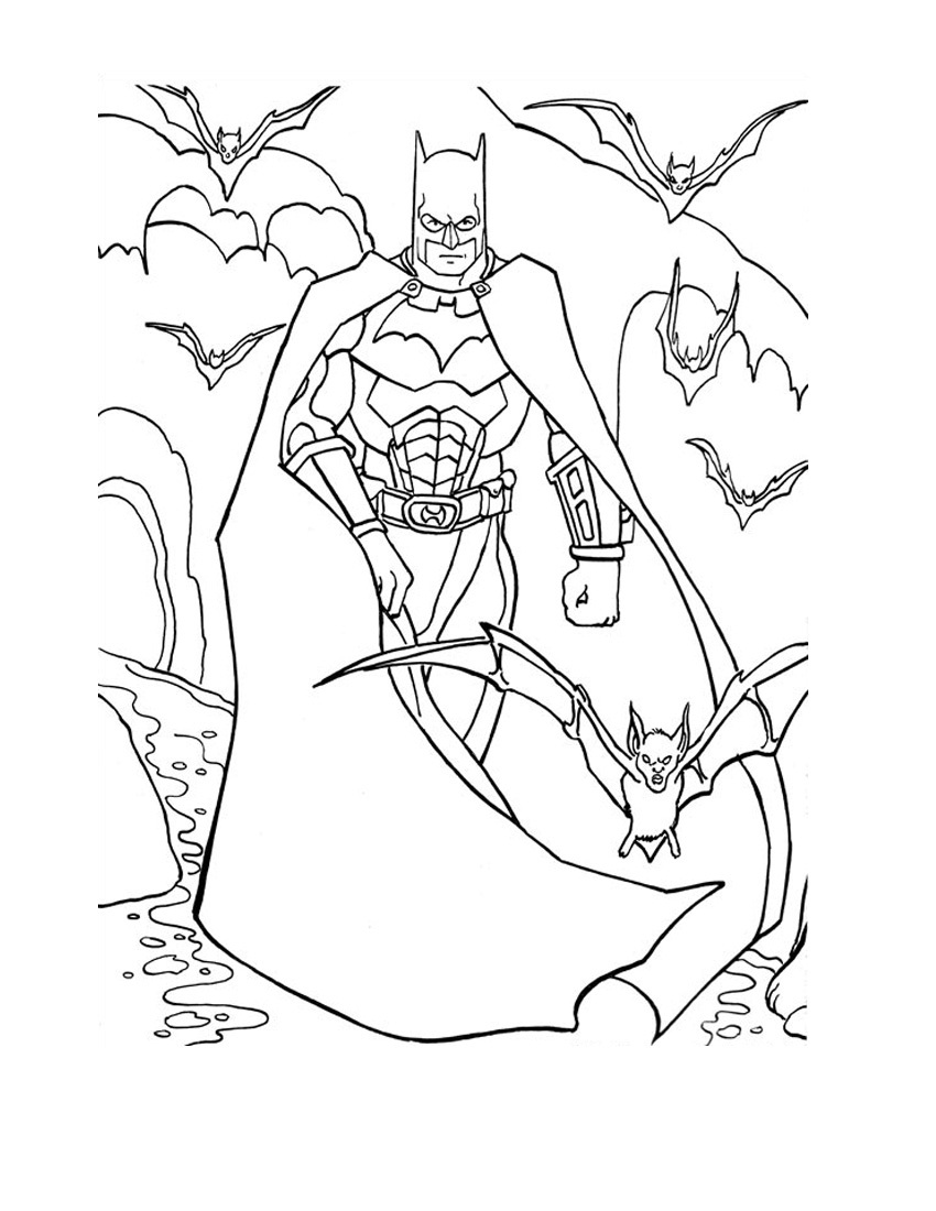 Colouring pages with colour - Batman Color Page