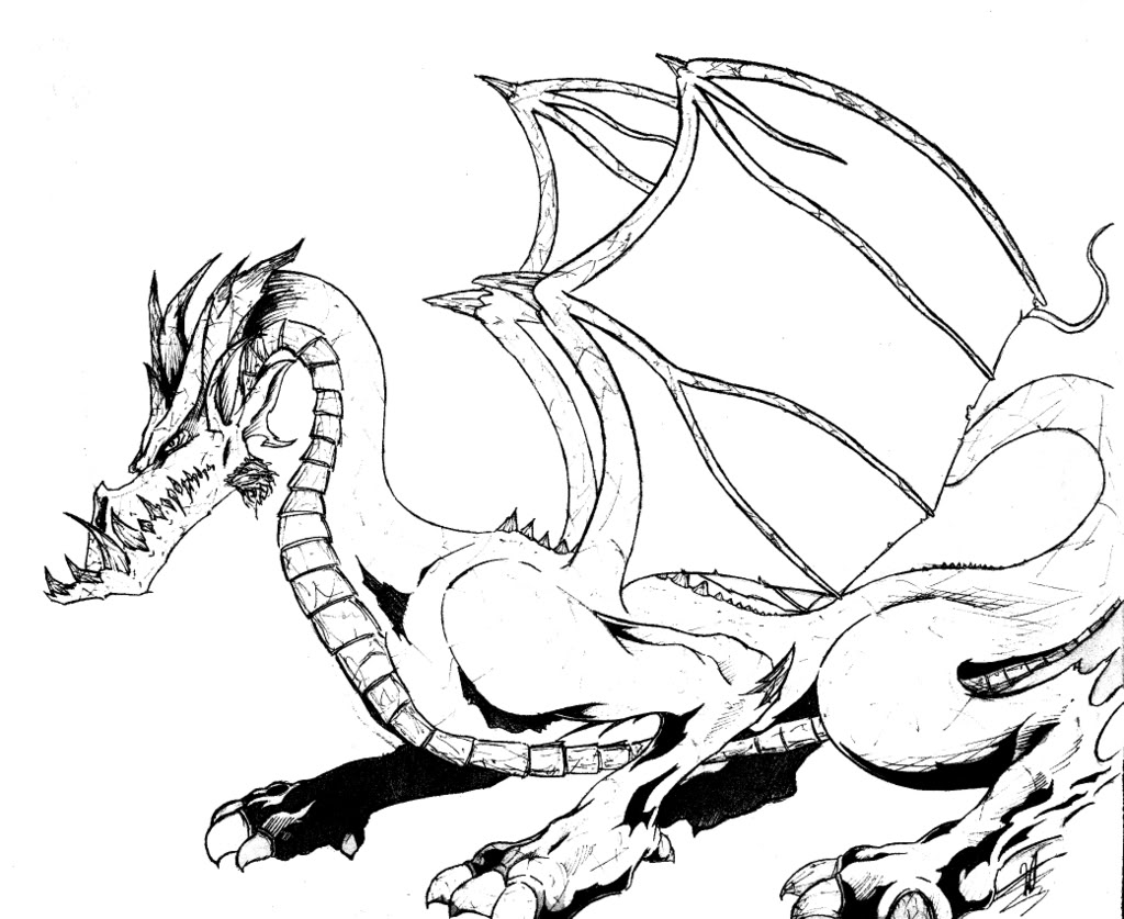 free coloring pages of dragon - photo #25