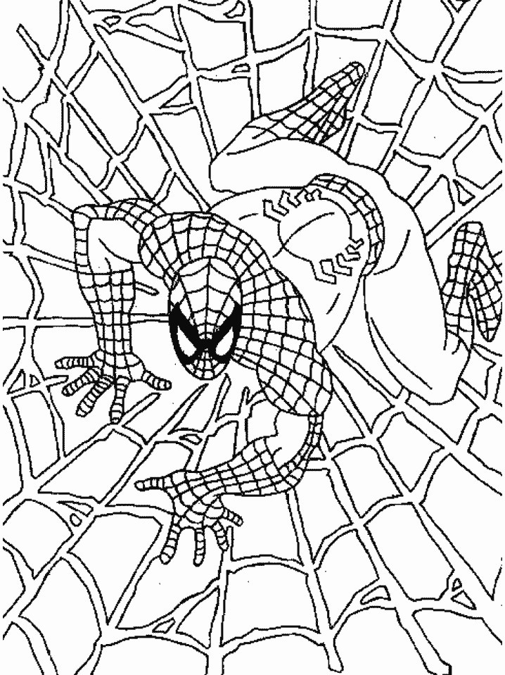 black spiderman coloring pages - Spiderman Coloring Pages Printable