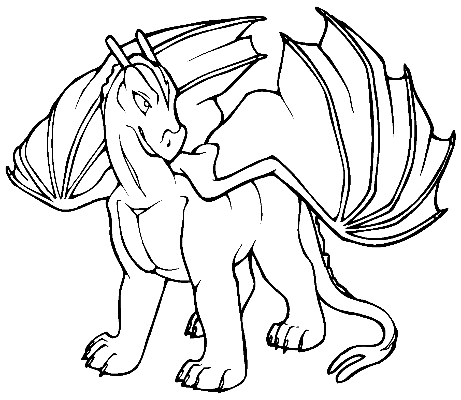 Free printable dragon coloring pages for kids for Free printable cartoon coloring pages