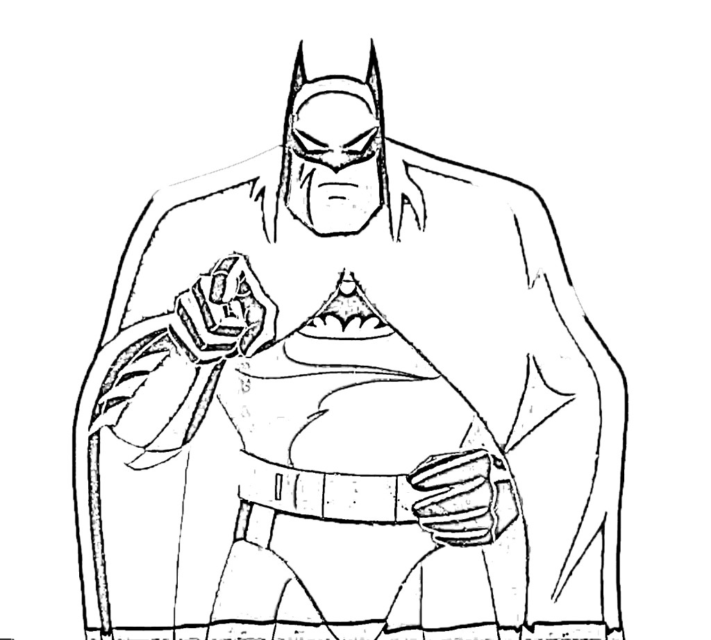 Printable coloring pages batman - Coloring Page Batman