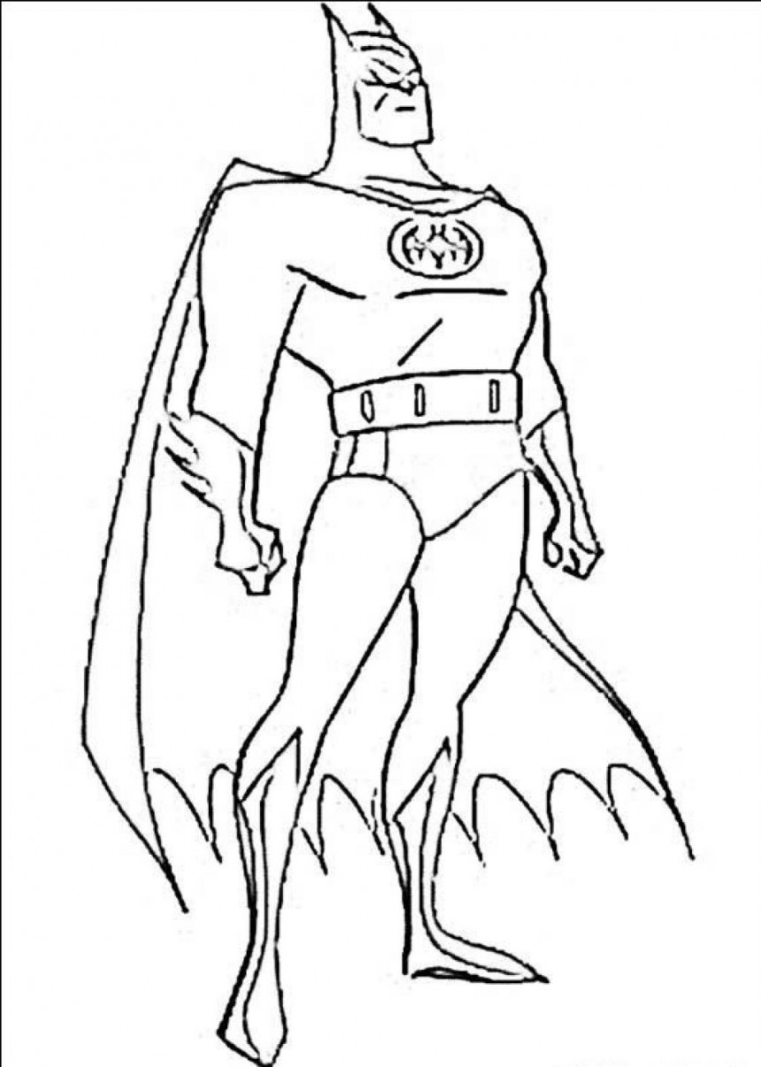 free coloring pages batman - photo#1