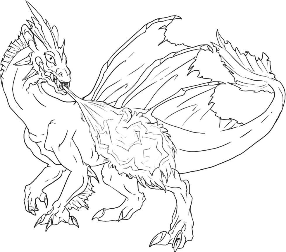 coloring pages dragon - Printable Dragon Coloring Pages