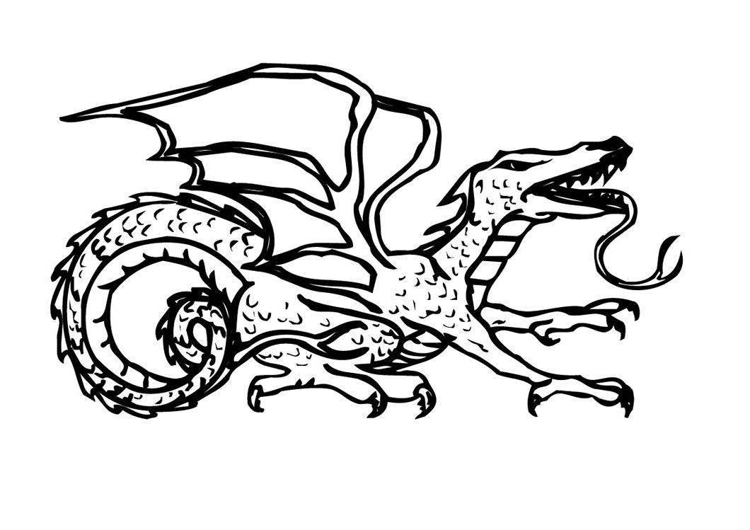 free coloring pages of dragon - photo #43