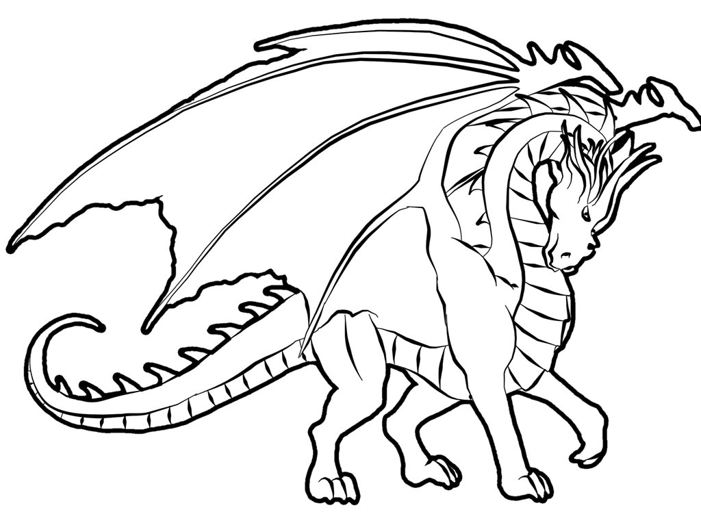 coloring pages for dragons - Kids Coloring Sheet