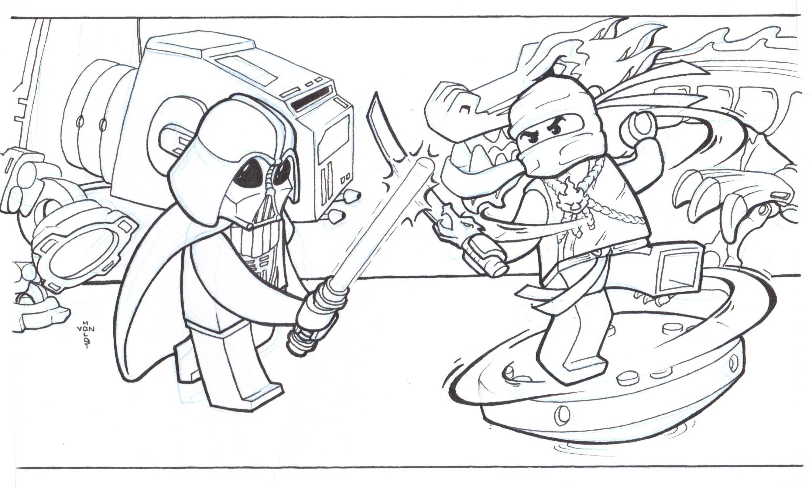 Dragon Ninjago Lego Coloring Pages Lego Free Coloring Pages