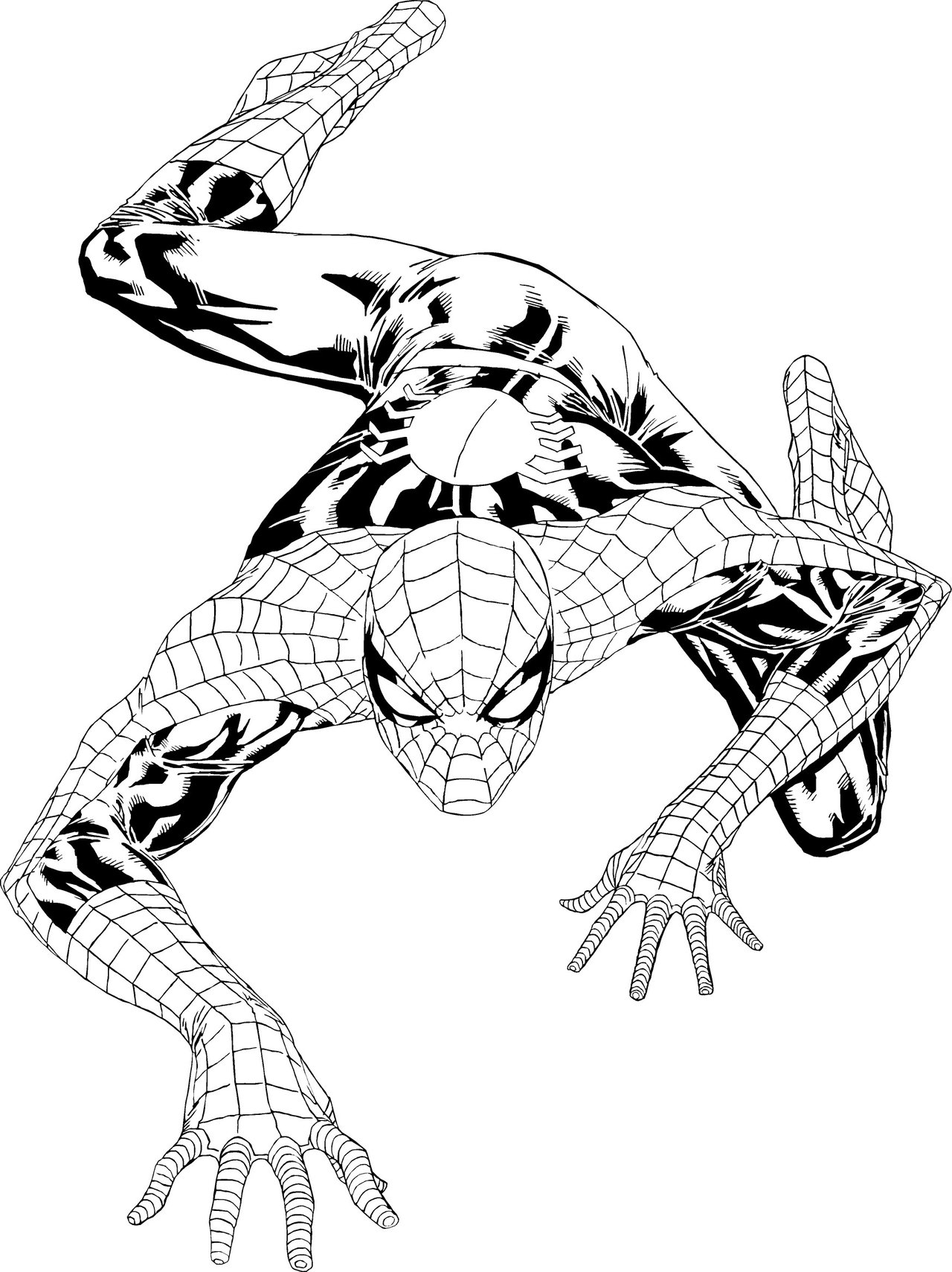Free printable spiderman coloring pages for kids for Photo to coloring page