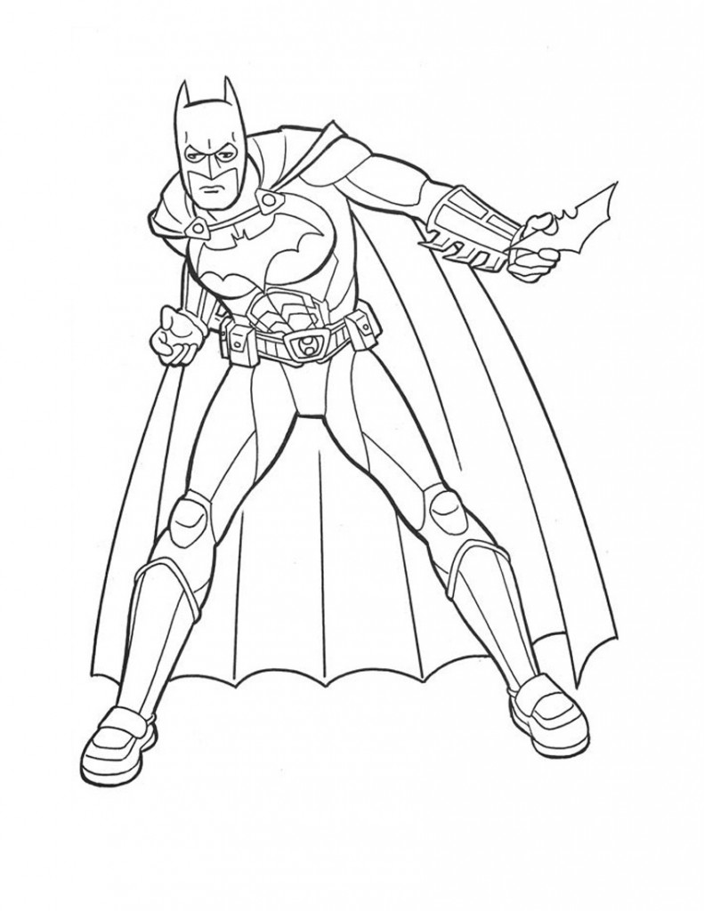 batmans coloring pages - photo#32