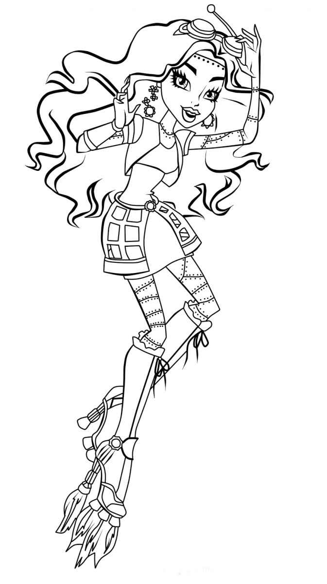 easy monster high coloring pages - photo#26