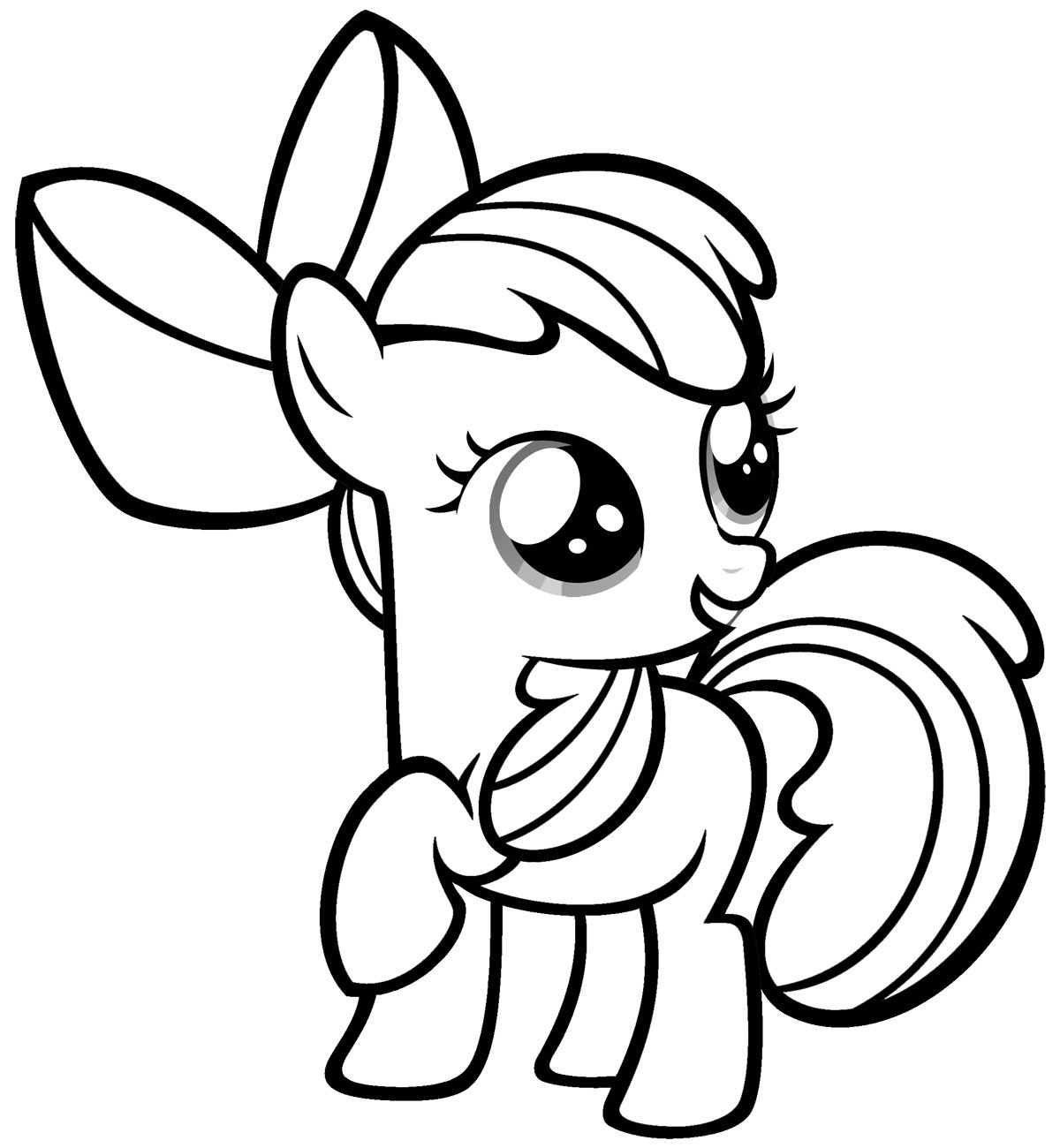 Printable Little Pony Coloring Pages Kids
