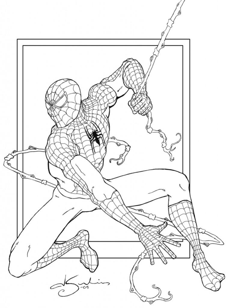 Coloring Pages of Spiderman For Kids