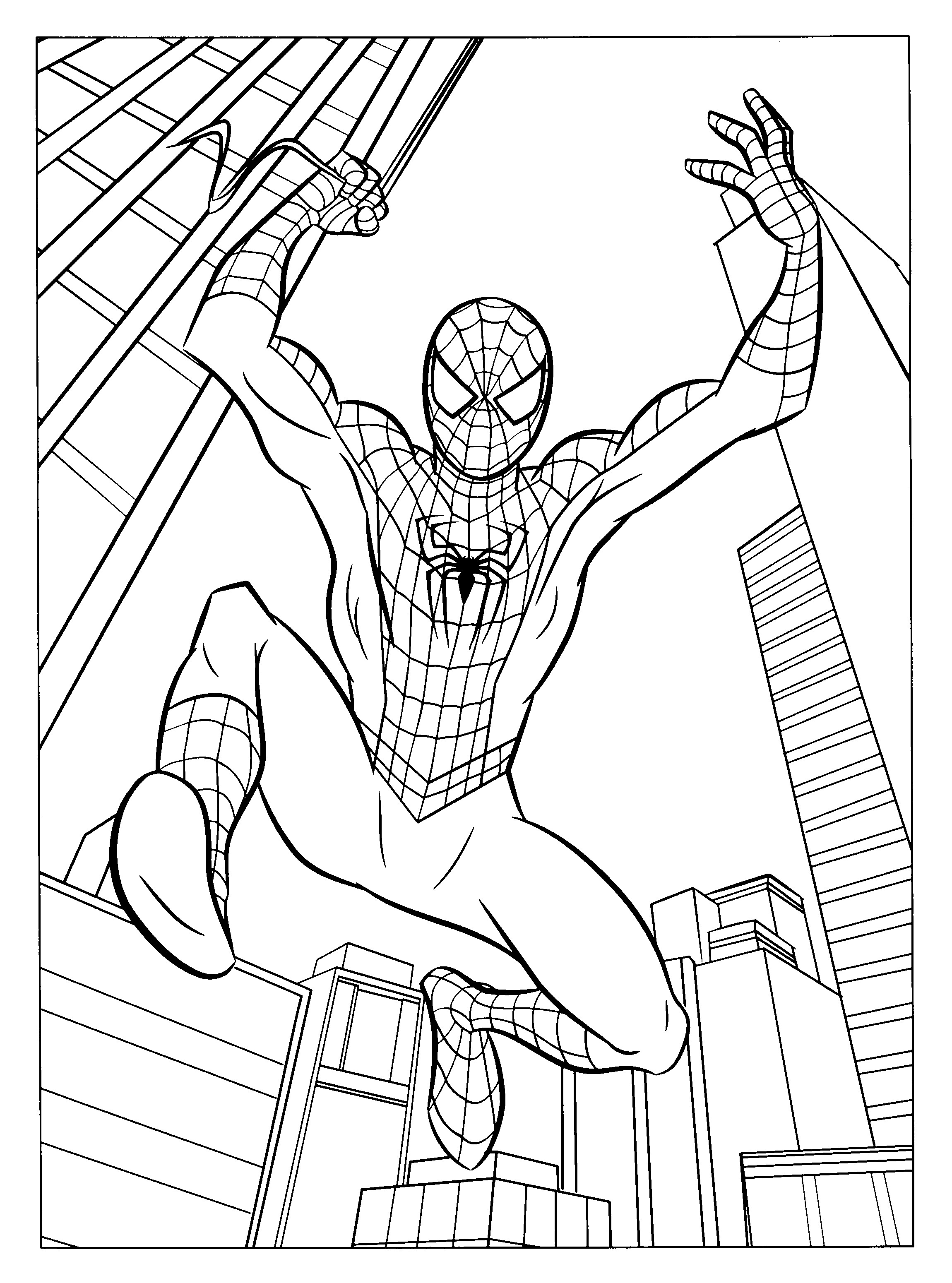 Free printable spiderman coloring pages for kids for Spiderman coloring book pages