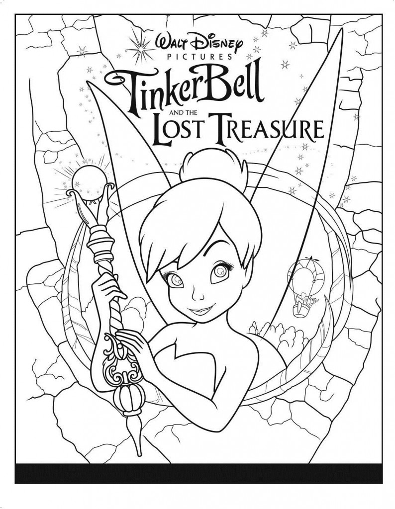 Tinkerbell colouring in online - Free Printable Tinkerbell Coloring Pages For Kids