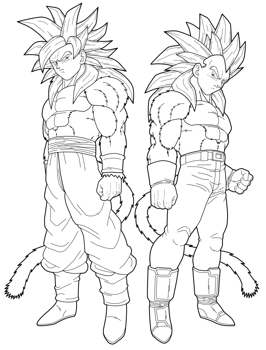 coloring pages of dragonball gt - photo#2