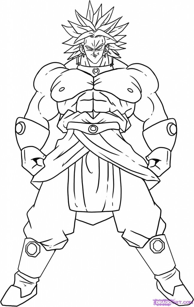 free dragonball z coloring pages - photo#1