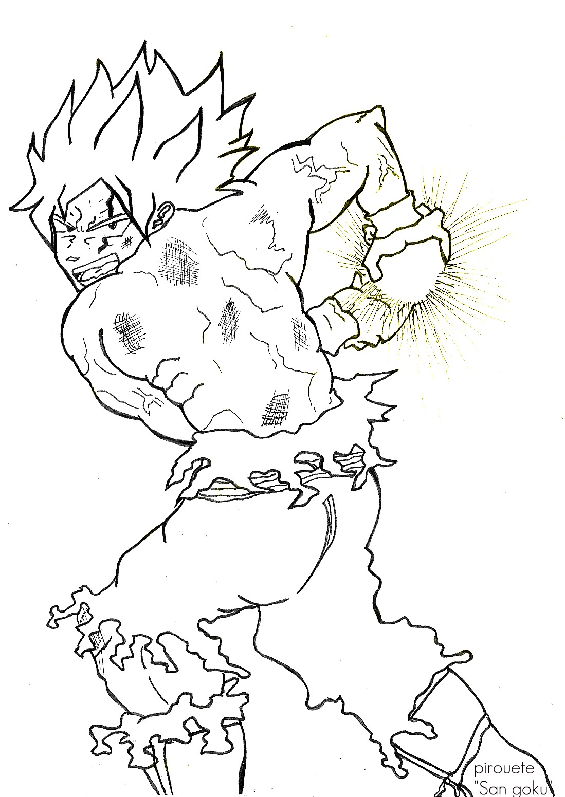 free dragonball z coloring pages - photo#17