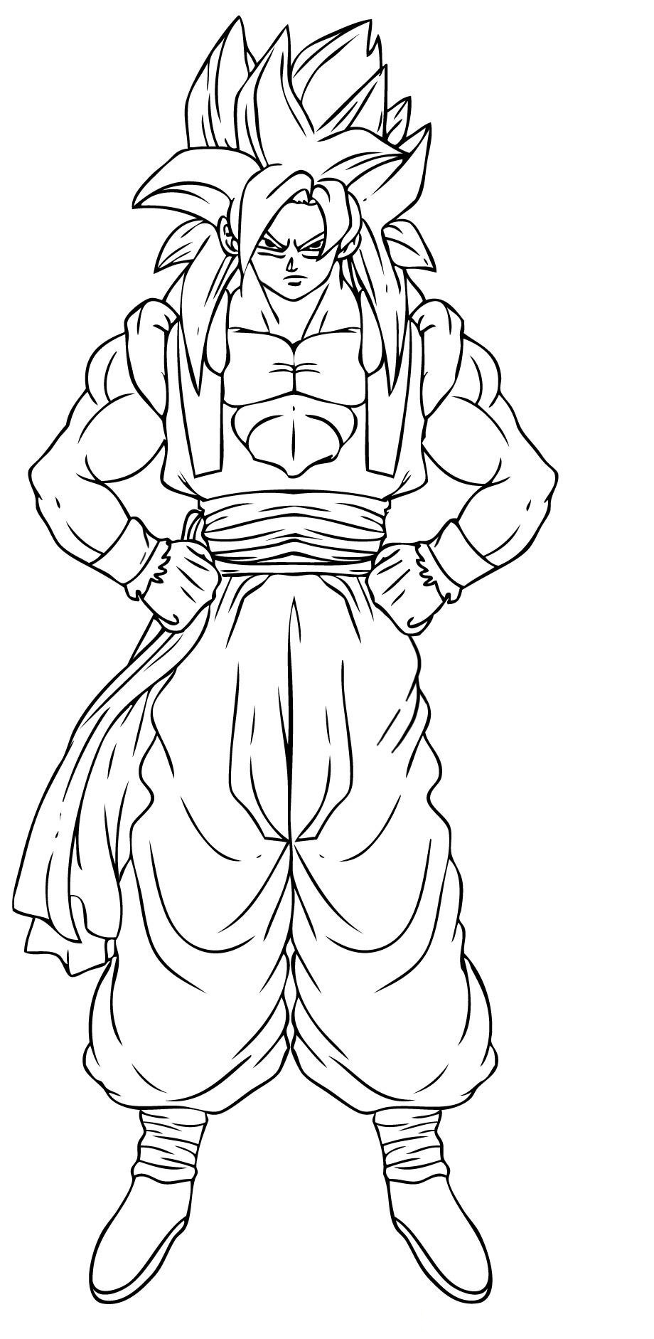 free dragonball z coloring pages - photo#28