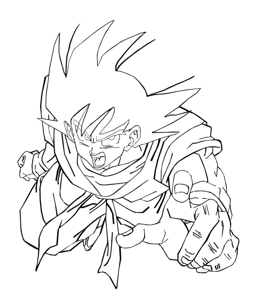 dragon ball z goku coloring pages free printable dragon ball z coloring pages for kids