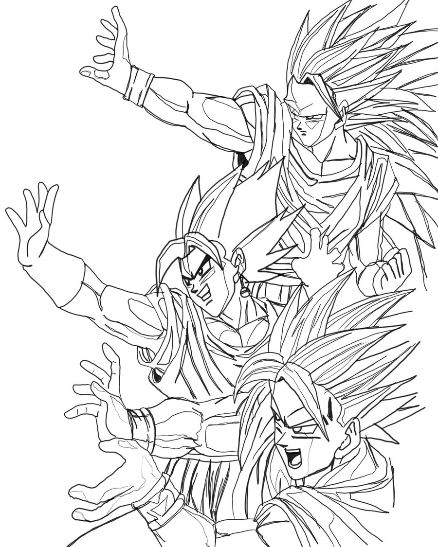 Painting pages to print - Dragon Ball Z Coloring Pages To Print
