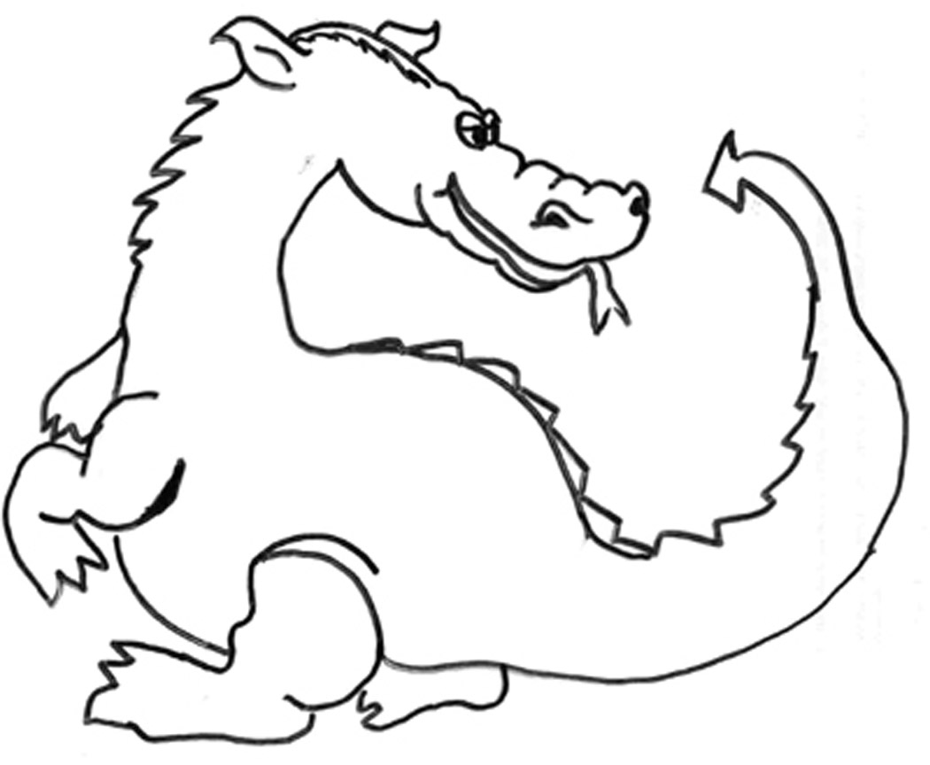 Printable coloring pages of dragons - Dragon Color Page