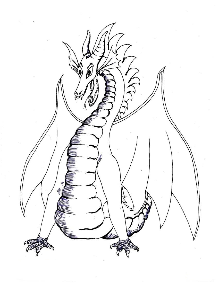 free coloring pages of dragon - photo #9