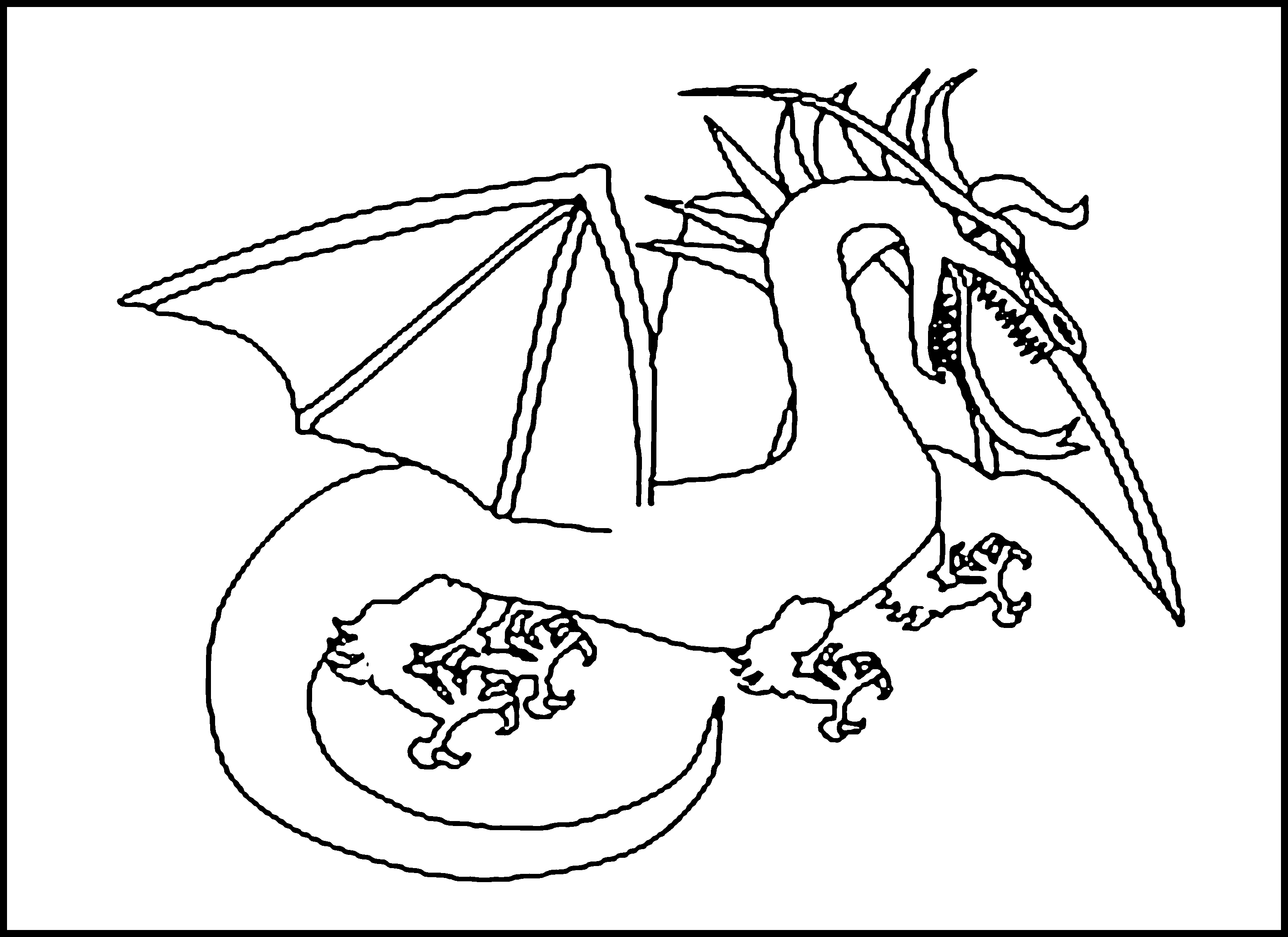 Volcano coloring pages to print - Dragon Printable Coloring Pages