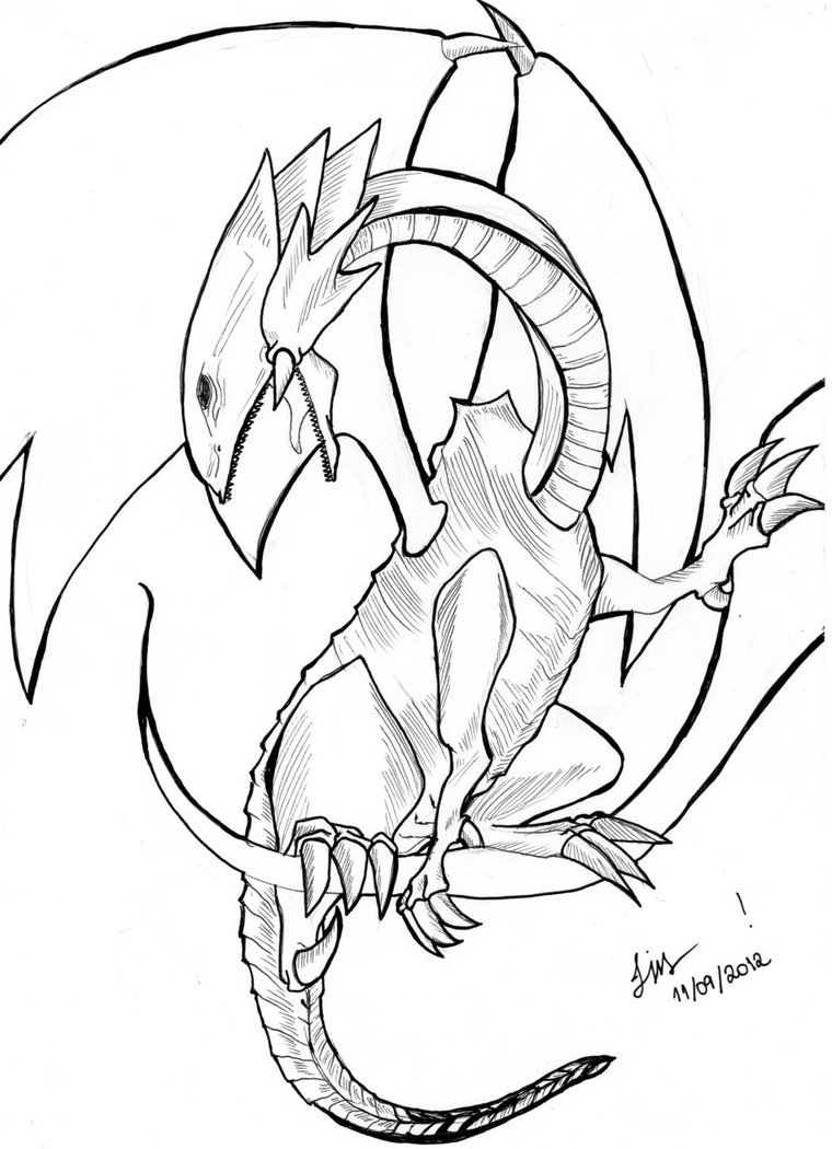 dragons coloring pages for kids - Printable Dragon Coloring Pages