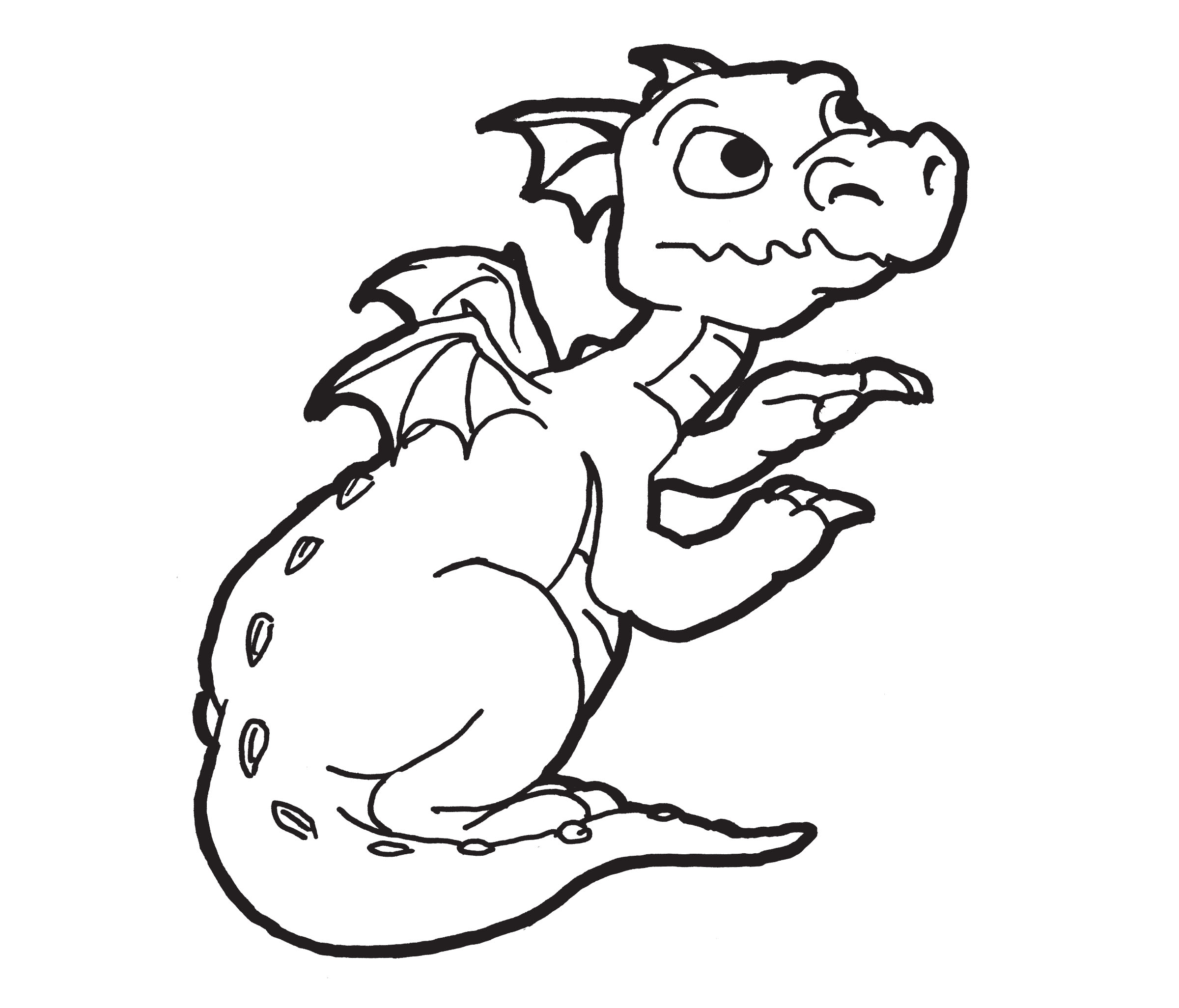Coloring Pages For Kids Printable : Free printable dragon coloring pages for kids