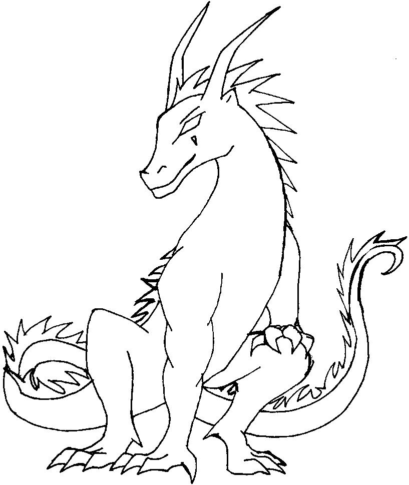 Printable coloring pages of dragons - Fire Dragon Coloring Pages