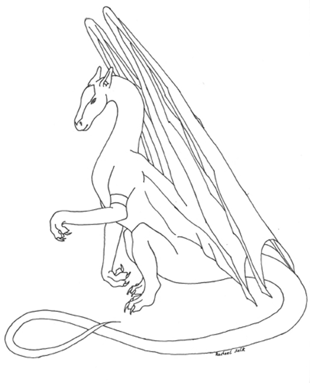 dragon coloring pages free - photo#27