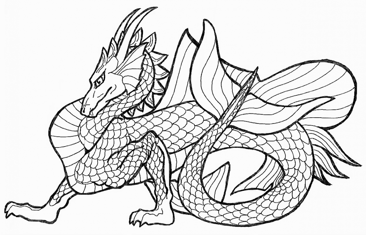 Printable coloring pages of dragons -