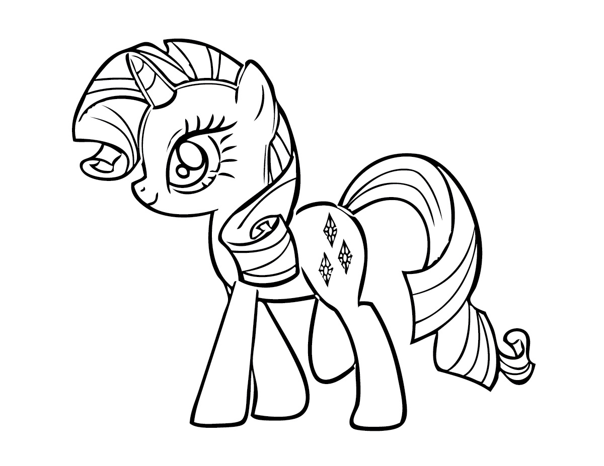 free printable my little pony coloring pages for kids - Pony Coloring Pages