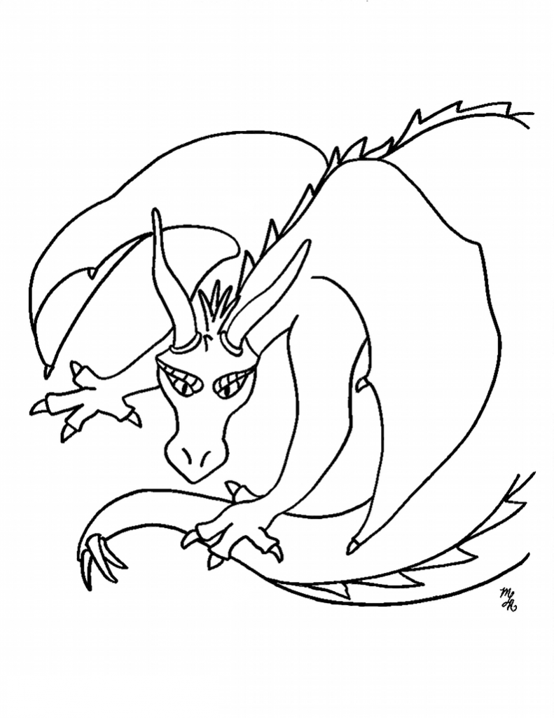 free printable dragon coloring pictures