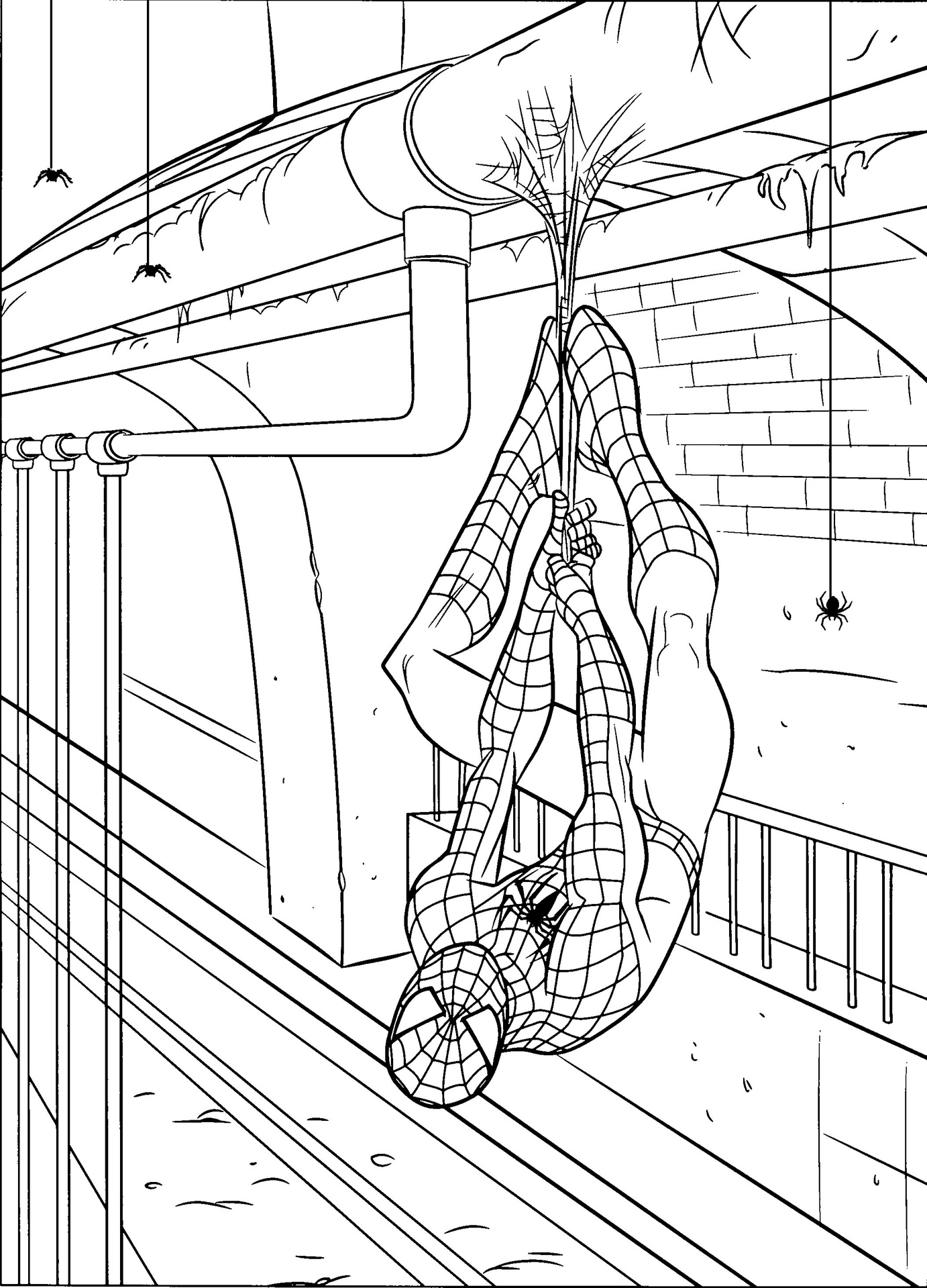 free spiderman coloring pages - Spiderman Coloring Page