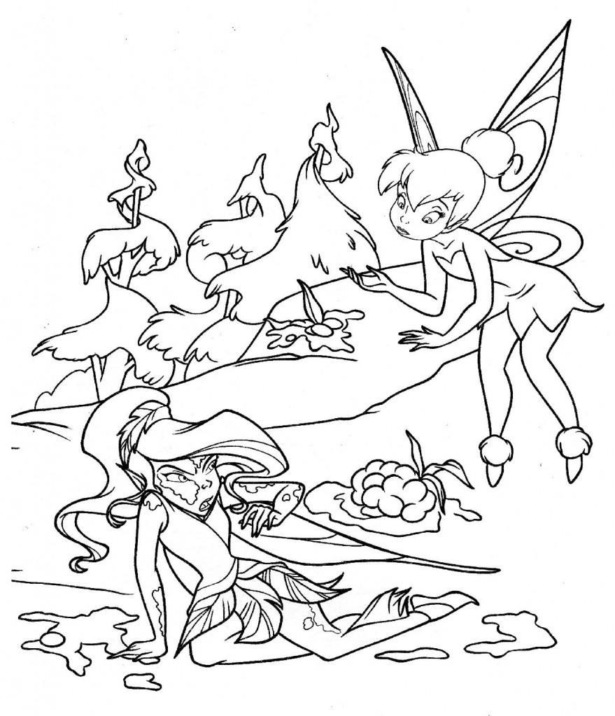 emo tinkerbell coloring pages - photo#17