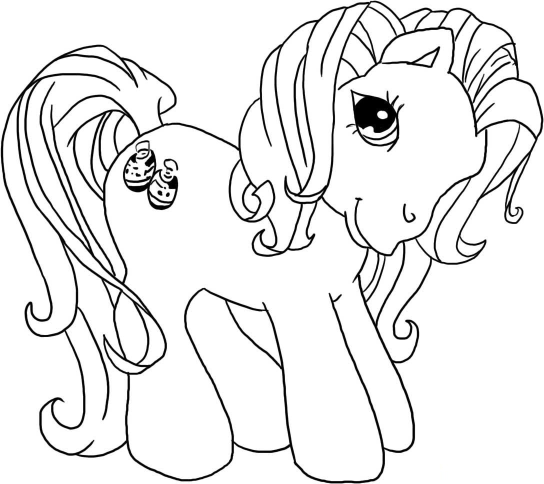 kids pony coloring pages - photo#6