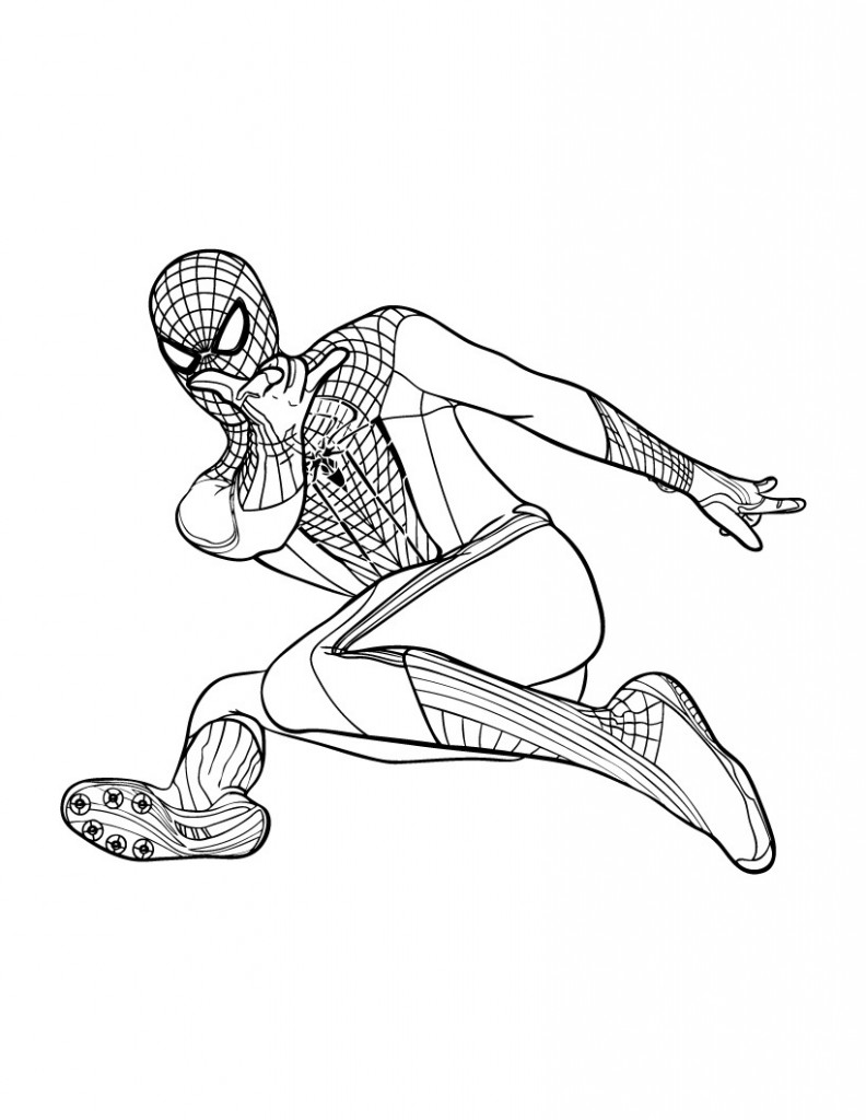 Kids Coloring Pages Spiderman