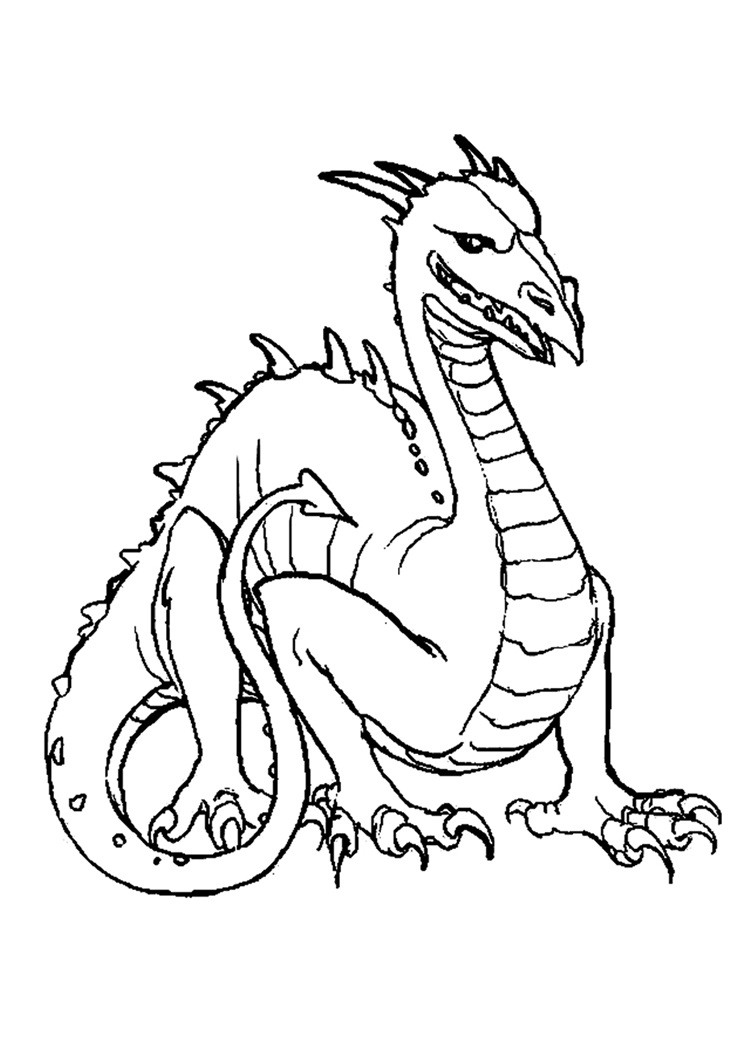 komodo dragon coloring page - free printable dragon coloring pages for kids