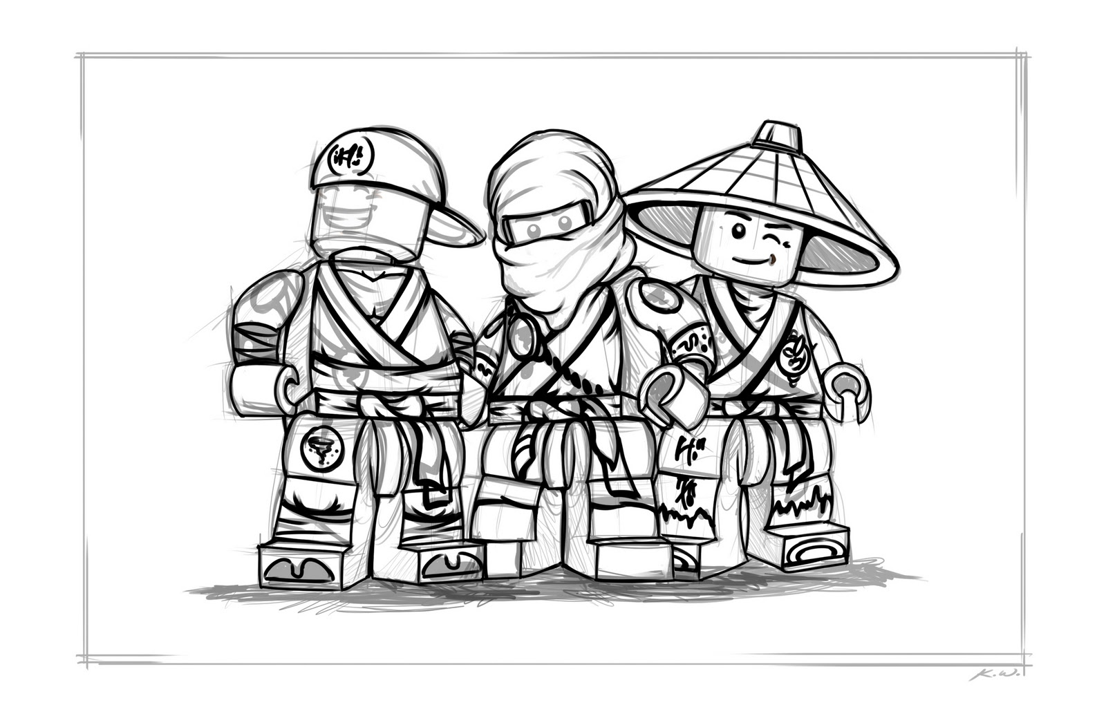 Coloring pages ninjago