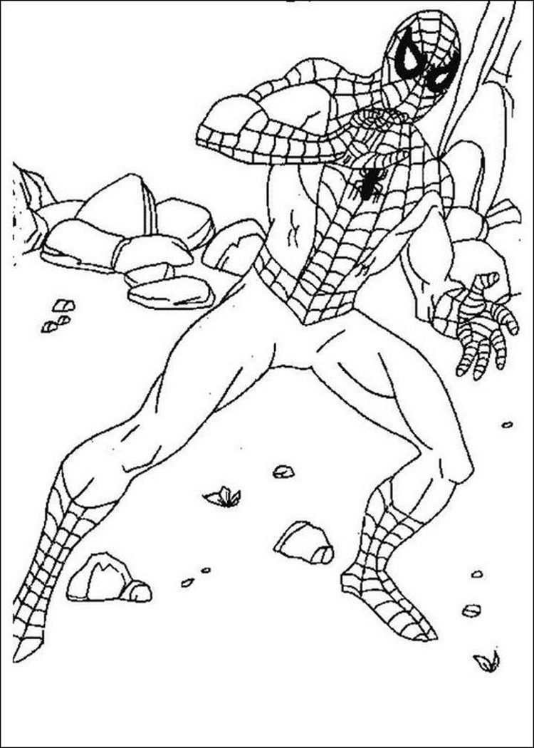 Free coloring pages online spiderman