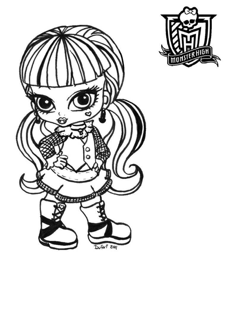 Monster high coloring pages baby and pet - e-pic.info