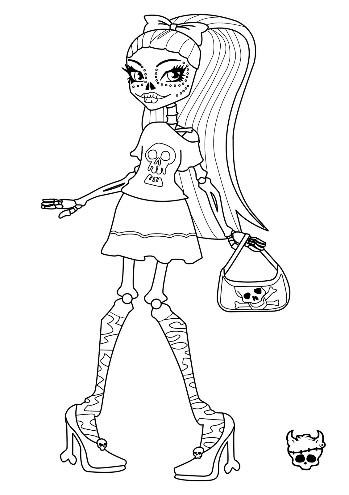 Free Printable Monster High Coloring Pages For Kids High Colour Pages