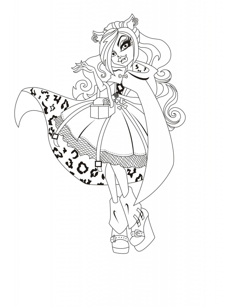 Monster High Coloring Page Pictures