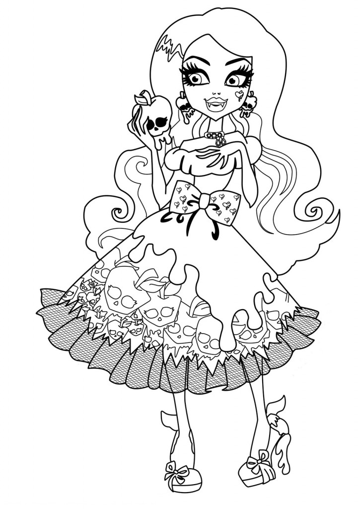 free printable monster high coloring pages for kids, printable coloring