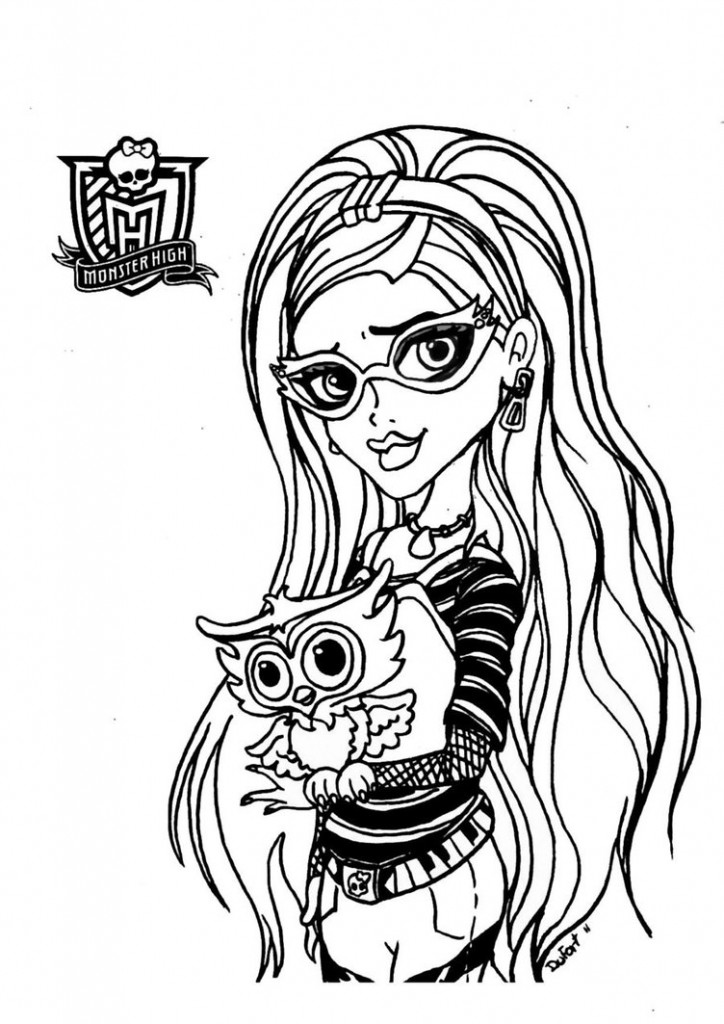 Free printable monster high coloring pages for kids for Monster high zimmerdeko