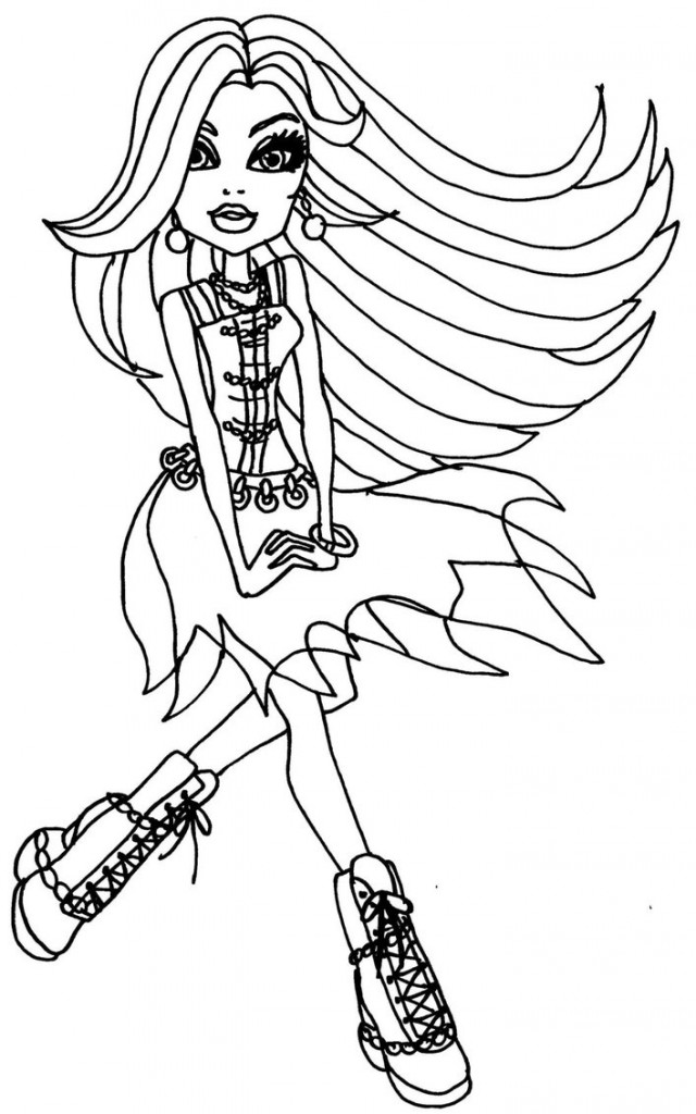 Free Printable Monster High Coloring Pages For Kids Printable Coloring Pages For High Free